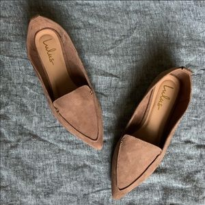 Lulu's Pointed Toe Loafers